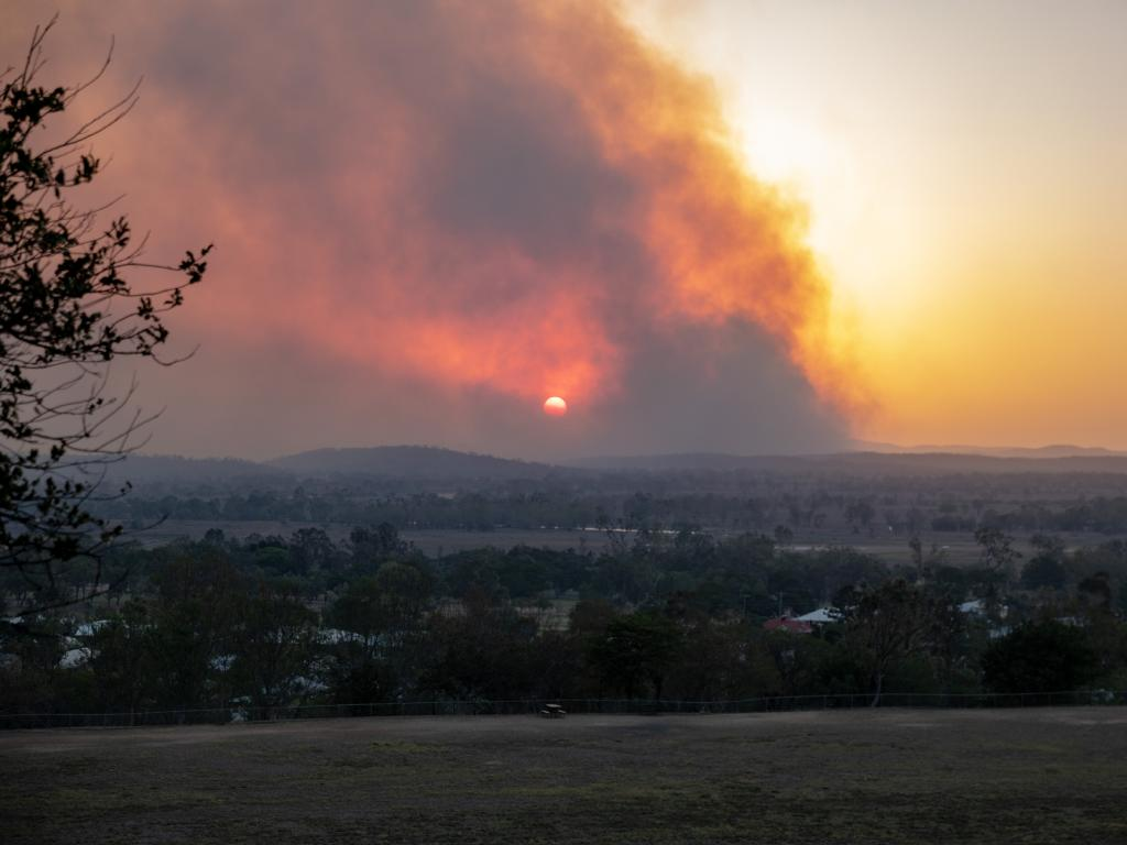 The Gracemere fire as seen from Rockhampton