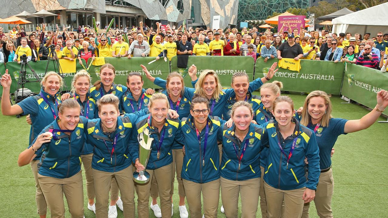The victorious Aussie team and their many fans.