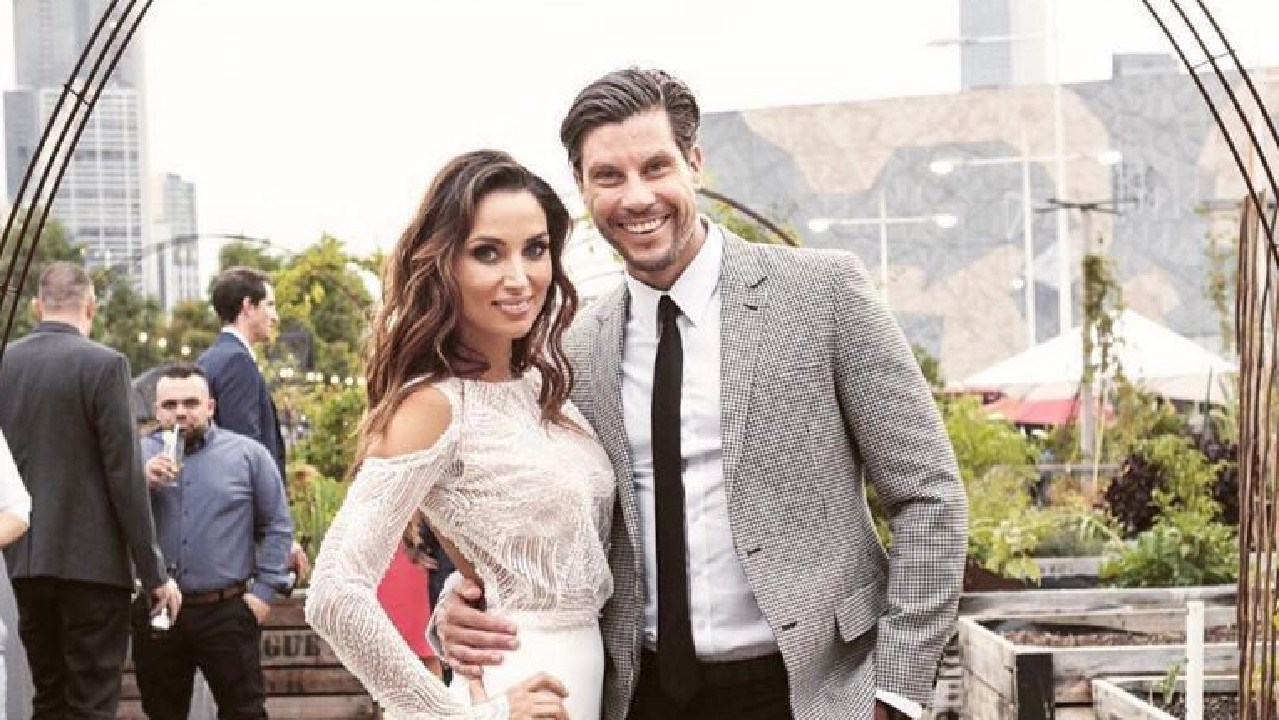 Instagram image from the engagement party of Snezana Markoski and Sam Wood. Picture: Instagram