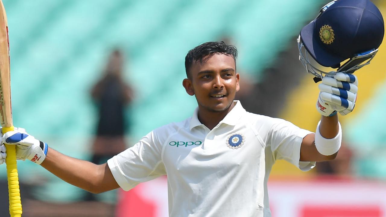 India's Prithvi Shaw scored a half-century against Cricket Australia XI.