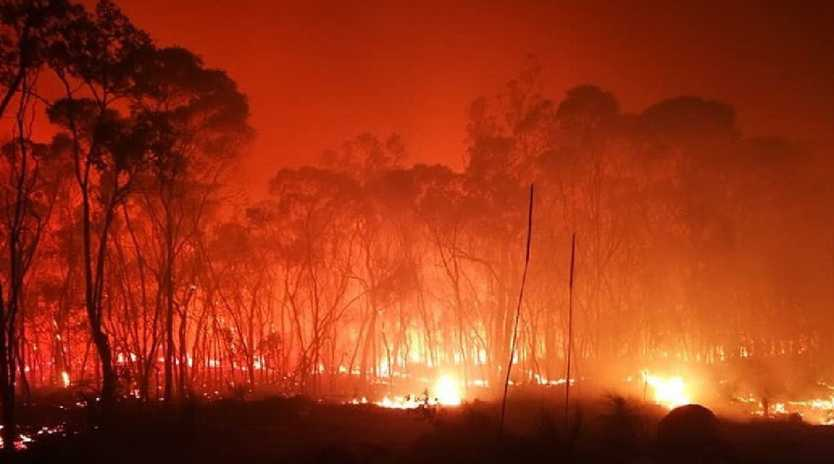 Rules Beach fire front. Picture: Chris Clarke / Supplied
