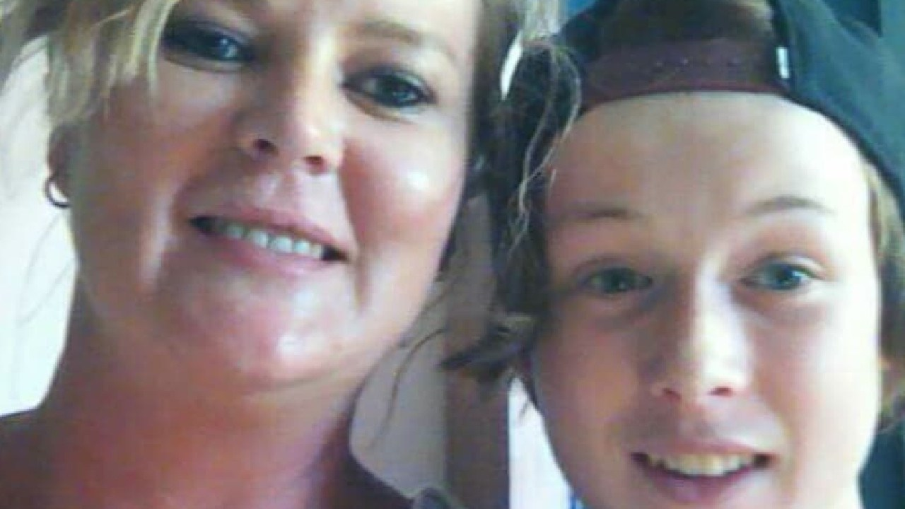 Road crash victim Jase Grant, 15, with his mother Erryn Grant (left) — Photo Supplied Copyright Unknown