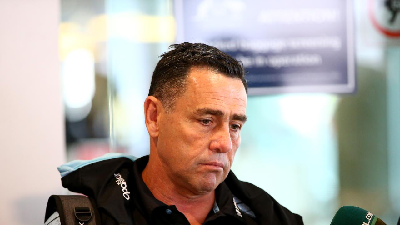 Cronulla Sharks coach Shane Flanagan is still waiting to see how his future at the club unfolds. Picture: Damian Shaw