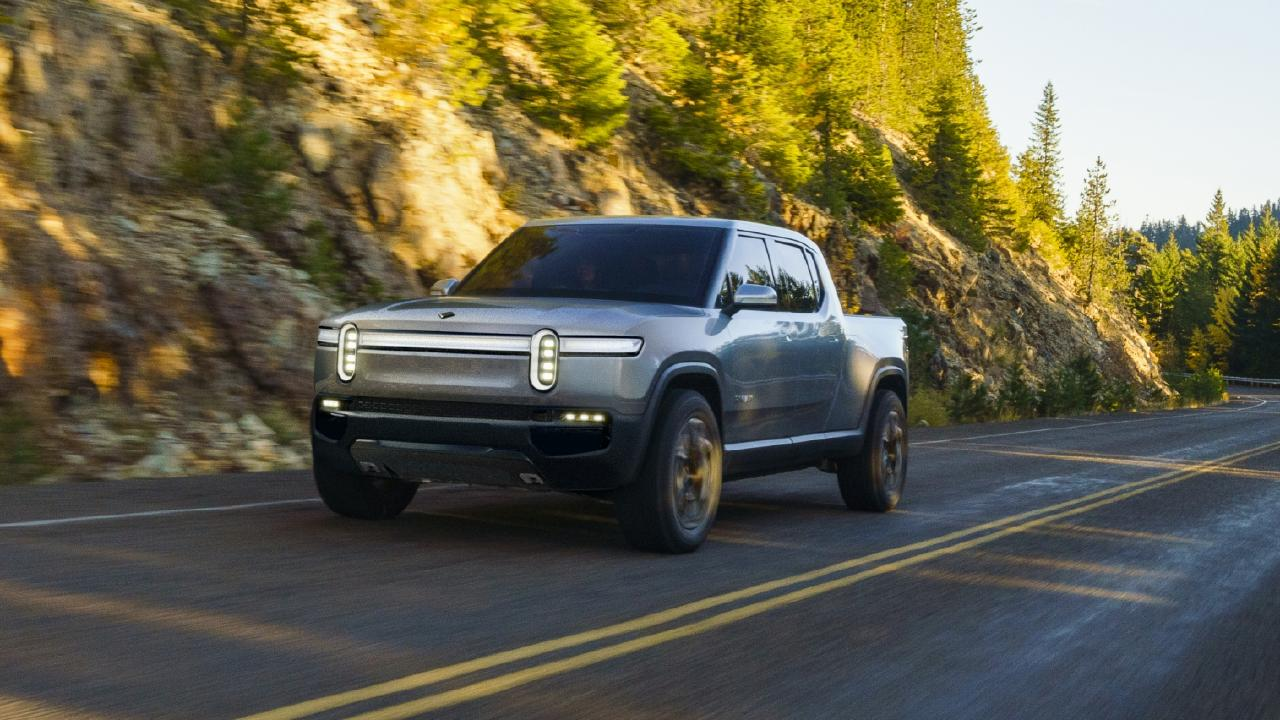 Rivian R1T electric ute concept was revealed at the 2018 LA motor show.