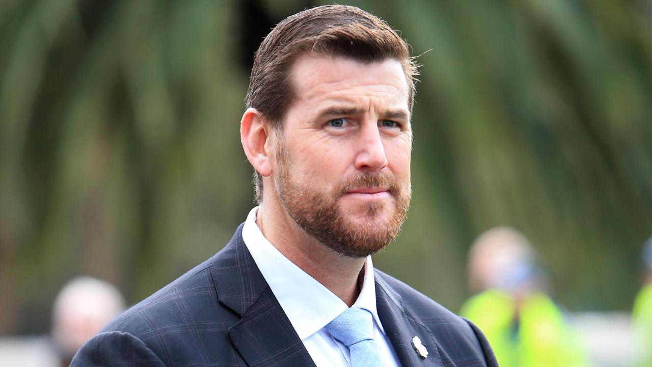 Ben Roberts-Smith during the 2017 Anzac Day march through Melbourne CBD. Picture: Aaron Francis/The Australian