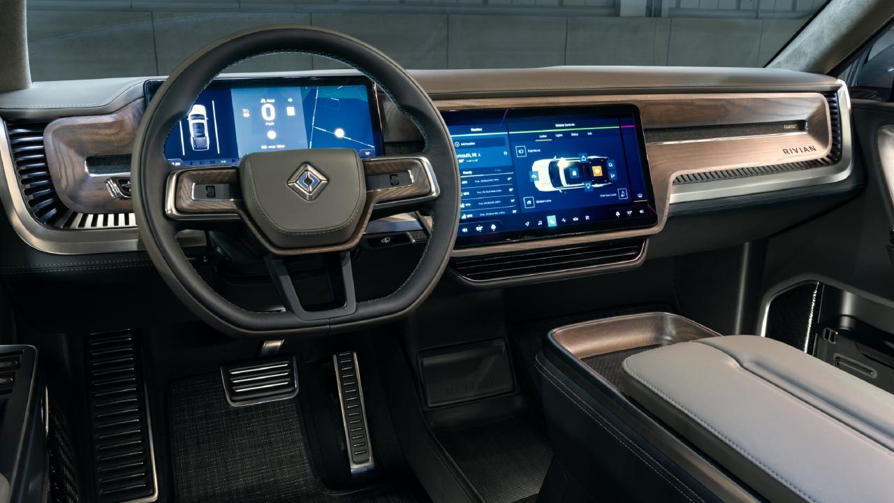 Rivian R1T concept has a premium interior.