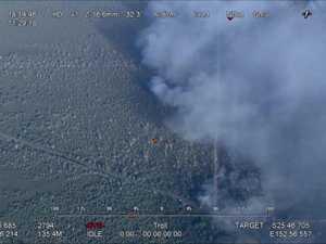 Raw aerial footage of the Tinnanbar fire