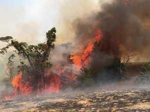 Fires rip through bush at Crediton