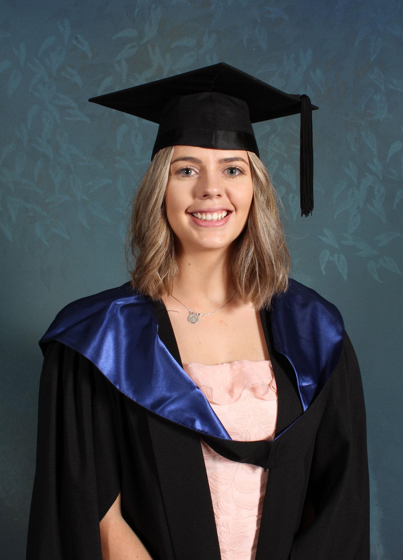 Claudia Oberholzer, Dalby. USC graduate.