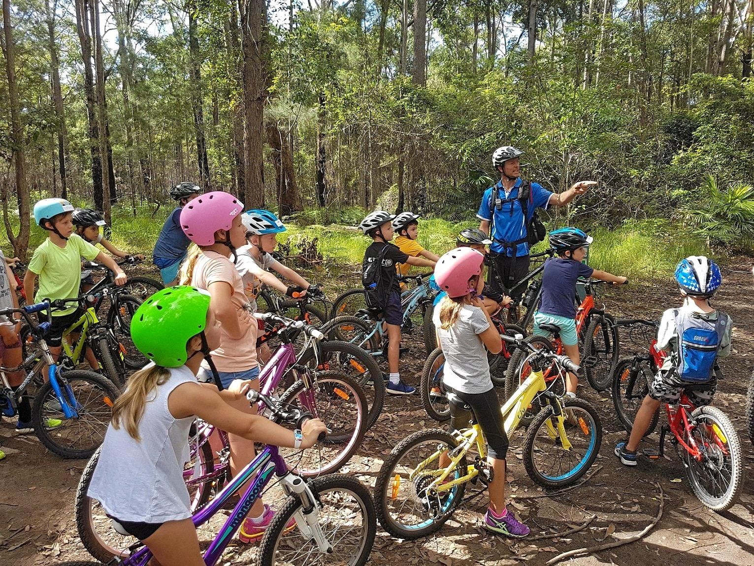 RIDE ON: Children mountain biking camps are on these holidays.