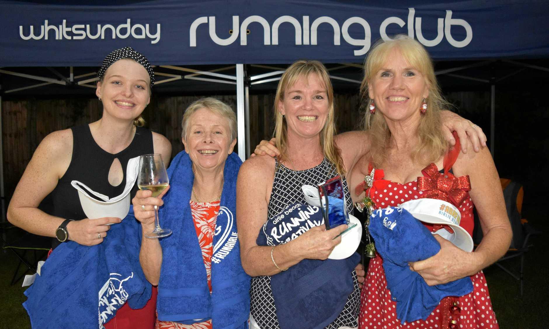 Whitsunday Running Club female award recipients Ayla Hadley, Sylvie Martin, Rebecca Hadley and Maryanne Fyvie.