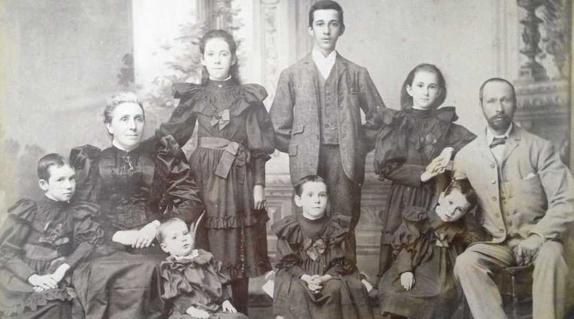 McWhirters family 1893, and (above, left) Melissa Fagin wrote the family history of Brisbane Retailers the McWhirters family.