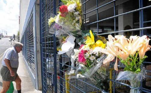 Flowers placed at Goldfields Plaza in 2009 following the shocking stabbing and murder of Jaxson Bradey. More flowers marked the ninth anniversary of the Gympie teen's death this week.