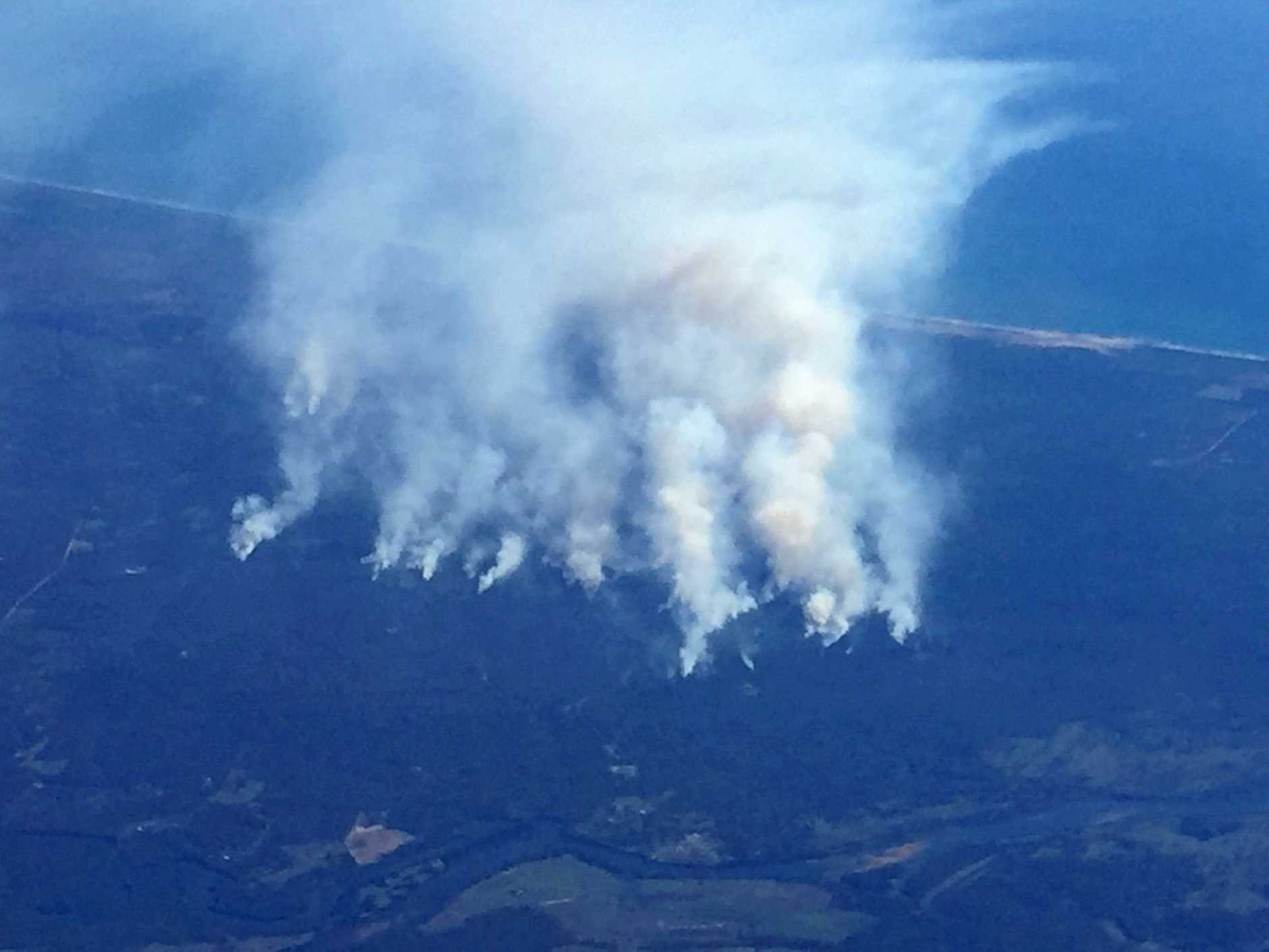 The Baffle Creek fires from above.