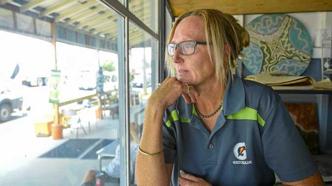 Mount Larcom Café owner Julie Beel was worried by how quickly the fire approached the township.
