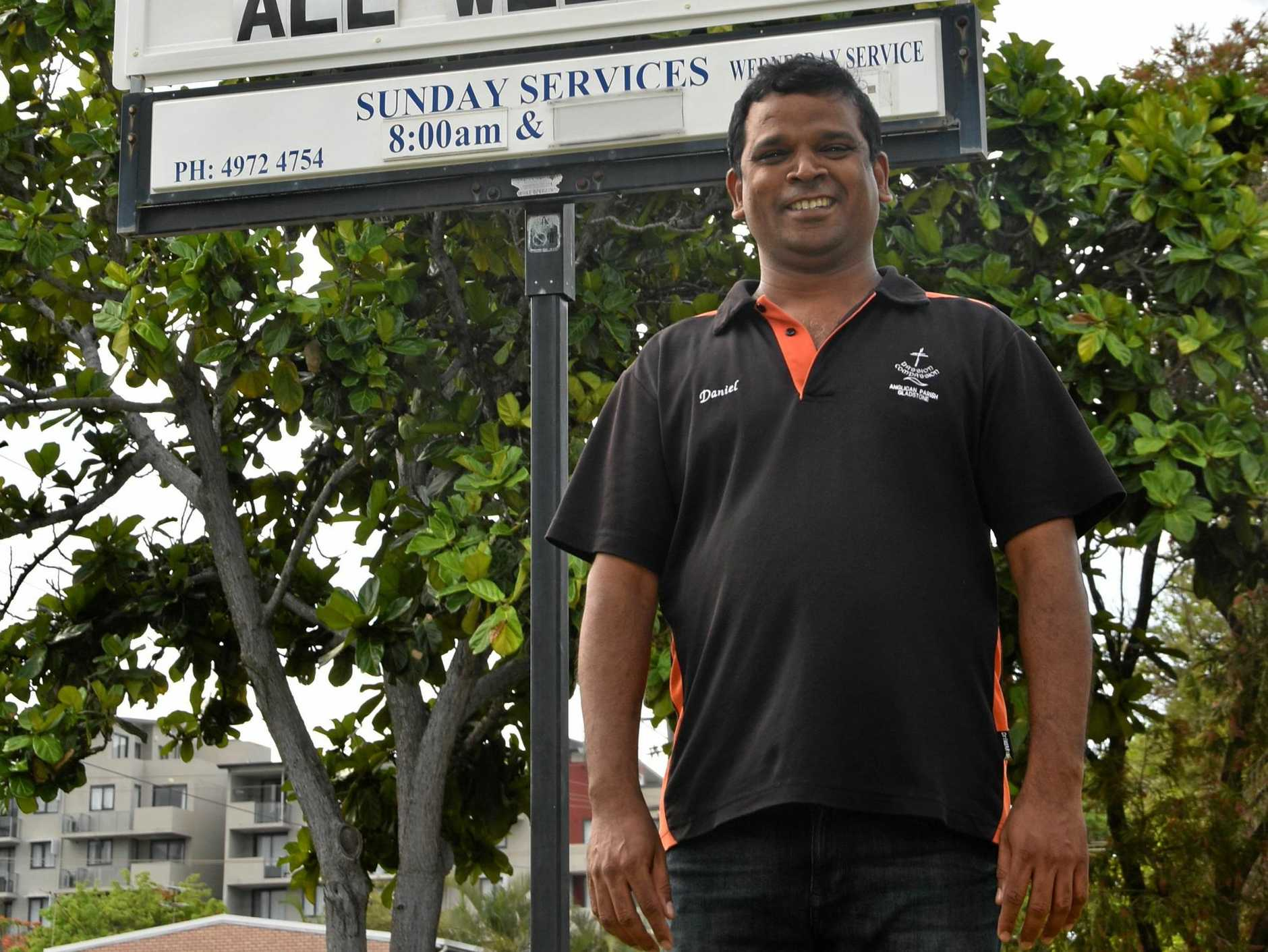 MOVING ON: Father Daniel Paulraj will be leaving Gladstone this weekend and heading to Brisbane after nine years of service.