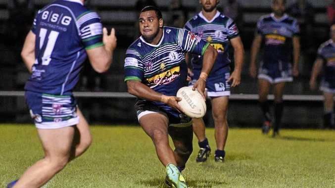 Brothers' five-eighth Lincoln Willmot passes.BUNDABERG RUGBY LEAGUE: Maryborough Brothers v Wests Panthers at Eskdale Park, Maryborough.