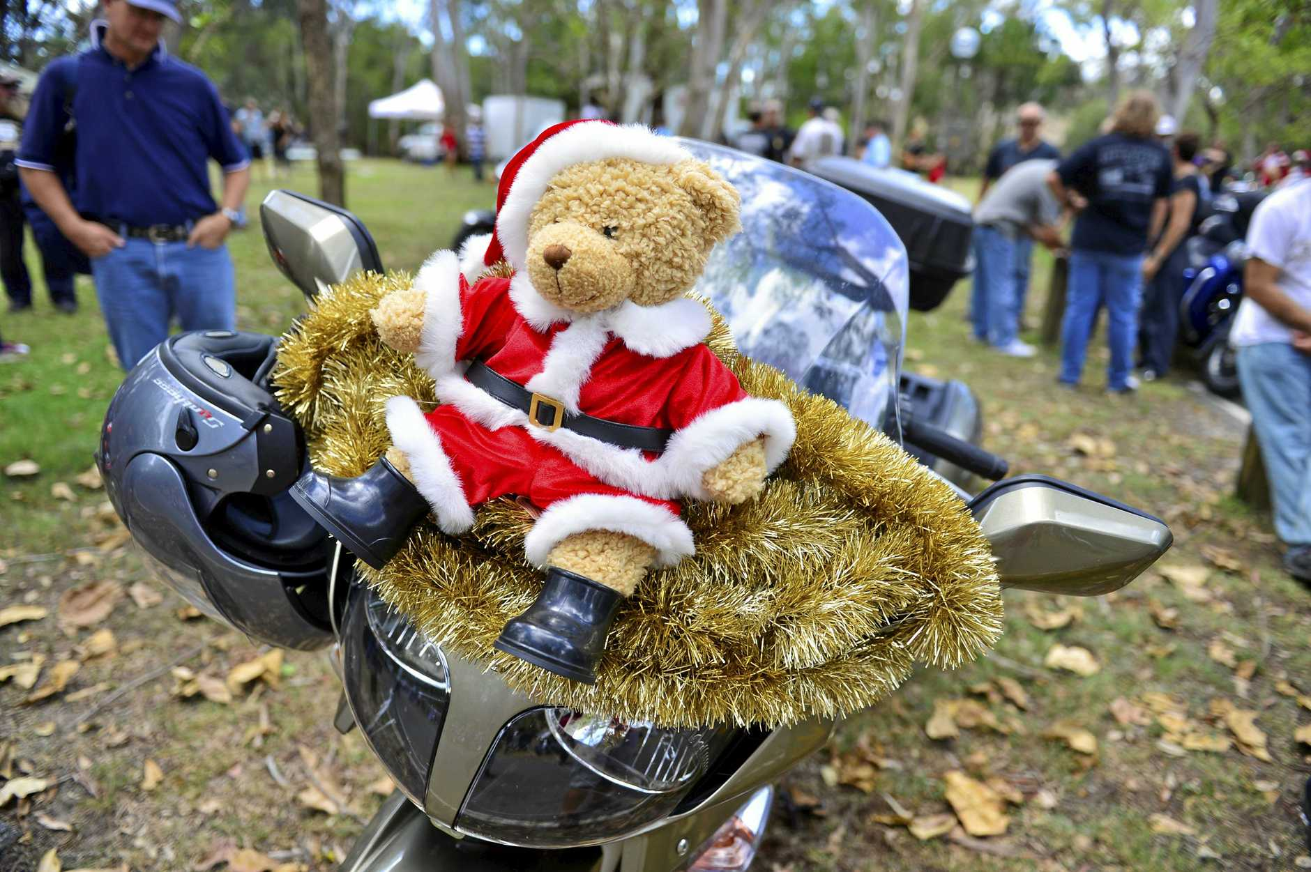 WORTHY CAUSE: The Ulysses Toy Run at the Tondoon Botanical Gardens.