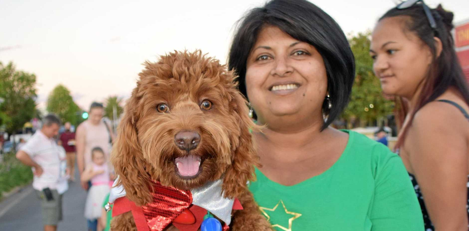 Thushari Lammas and her doggo Benji, who put in a fantastic effort in the best dressed dog competition.