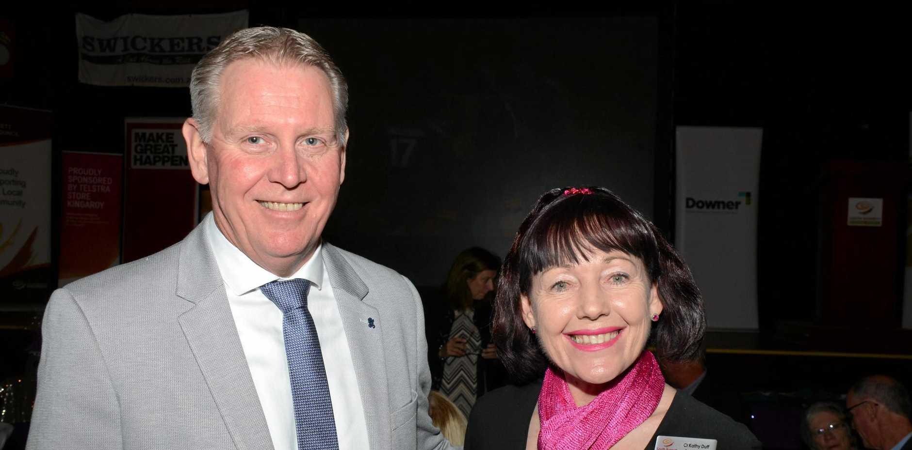 John Carey with South Burnett Deputy Mayor Kathy Duff.
