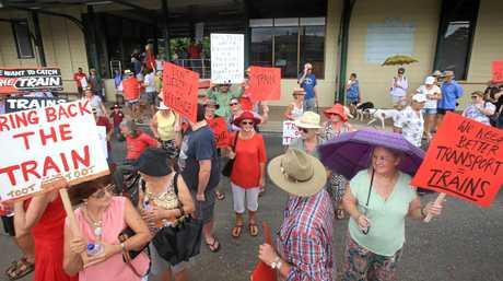 Rail protest at Murwillumbah