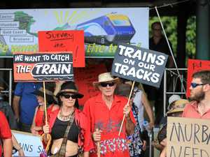 Community jumps on board rally in hopes of returning rail