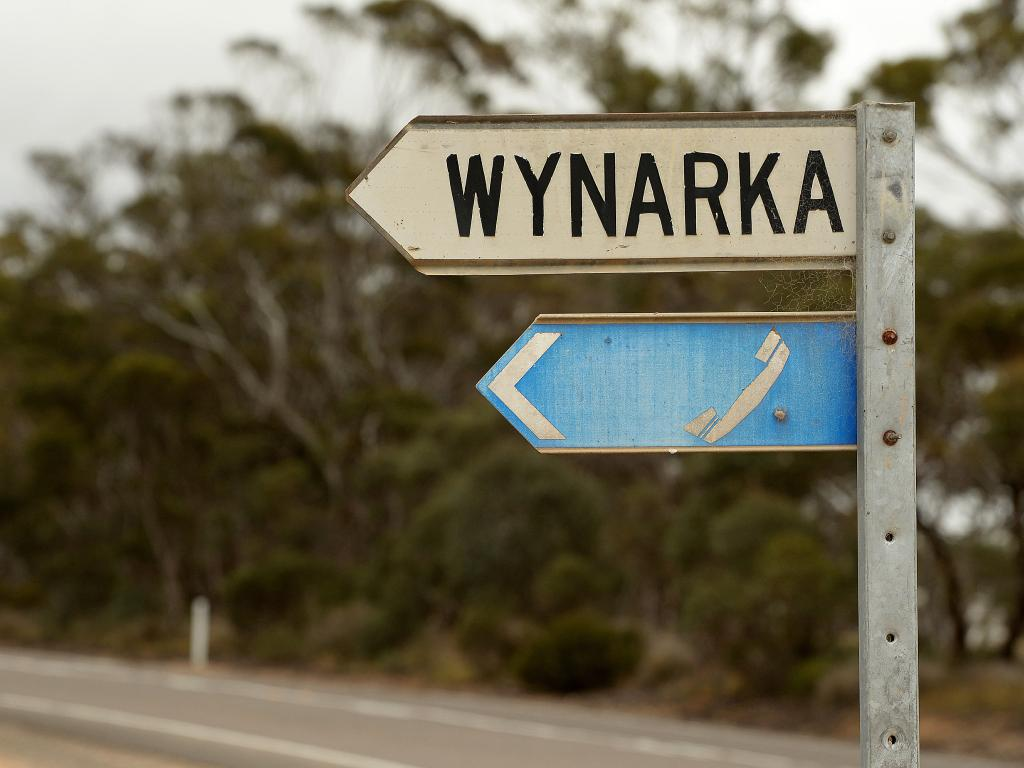 Wynarka, South Australia has a population of eight people do a 'mystery well dressed man' stood out in early 2015. Picture: Bianca De Marchi