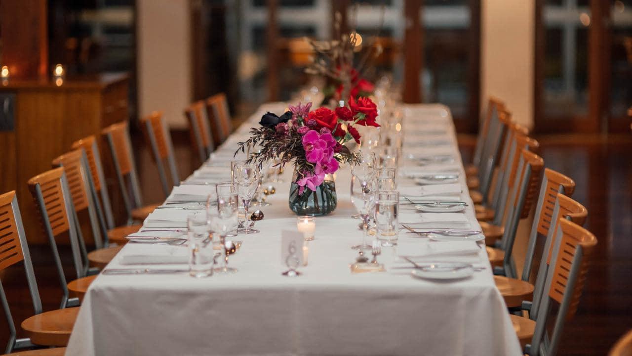 The reception was held at Sirromet's Restaurant Lurleen's.