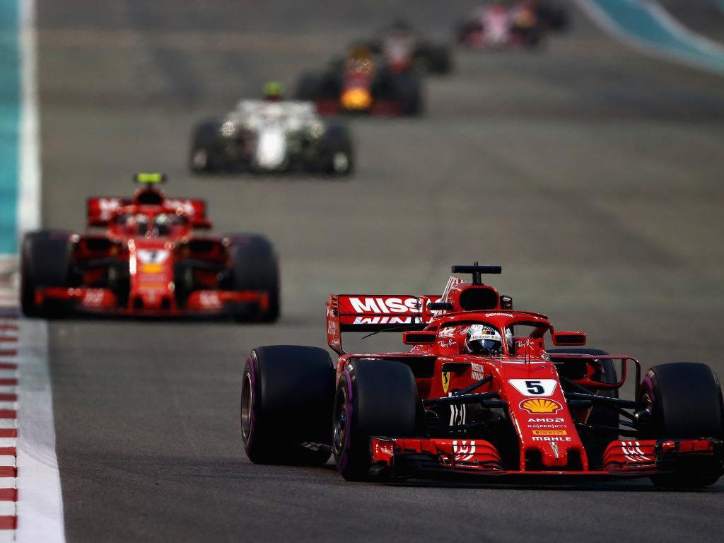 Sebastian Vettel forced Kimi Raikkonen out.
