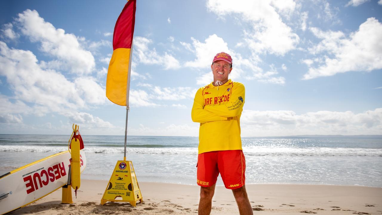 Bribie Island surf lifesaver Bryan Box at Woorim Beach. Picture: Dominika Lis