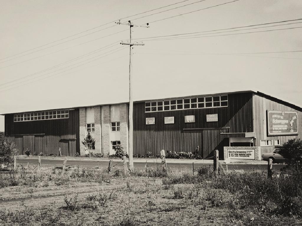 The original Electra Brewery in Bundaberg in 1973