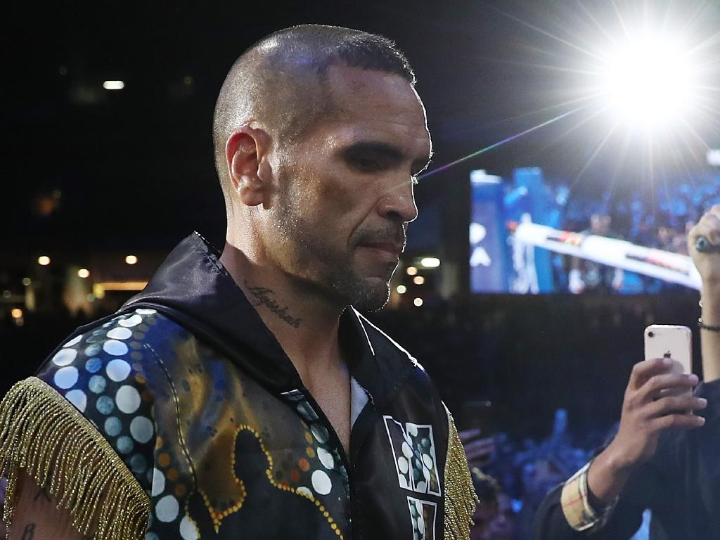 Anthony Mundine arrives for the River City Rumble. (Photo by Chris Hyde/Getty Images)