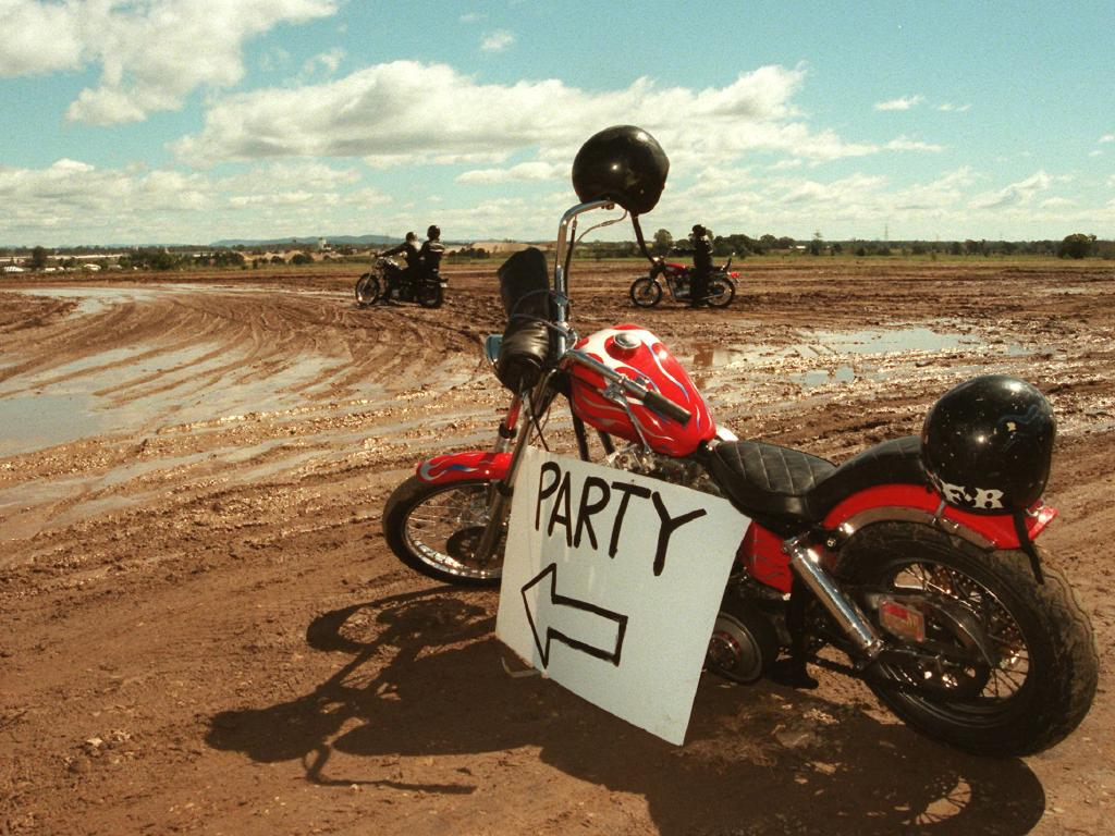 The paddock party allegedly descended into chaotic scenes. Picture: Supplied