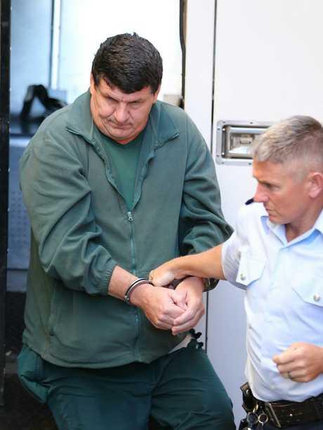 Holdom arrives for sentencing. Picture John Grainger.