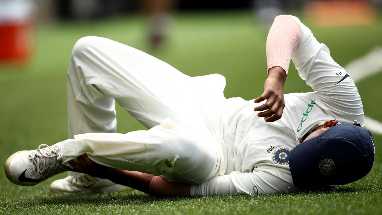 Prithvi Shaw has gone to hospital for scans.