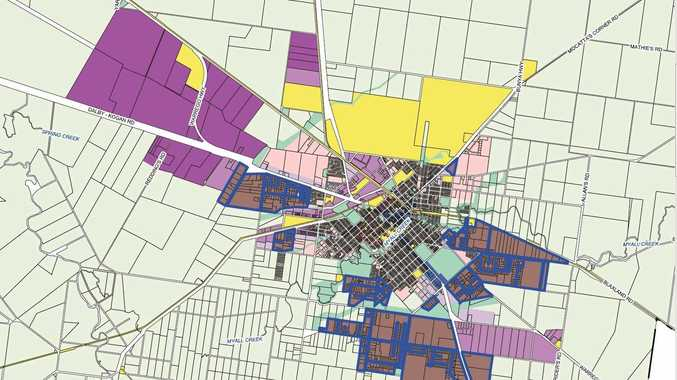 PLANNING SCHEME: A map from the Council's Planning Scheme outlines the areas that are at risk of being re-zoned.