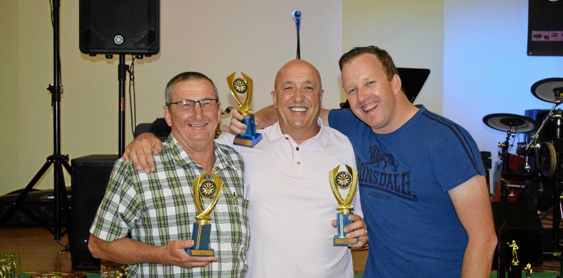 AWARDS NIGHT: - 4x180 winners (From Left) Kerry Treichel, Steve Hughes and Dean Chandler