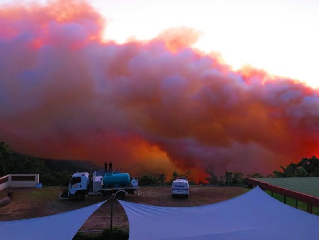 Fires burning in Eungella. Picture: Mackay Eungella Chalet