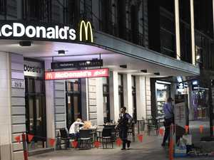 Man arrested after stool attack at Maccas