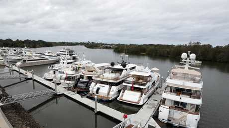 Superyachts on the Gold Coast. Picture: Richard Gosling