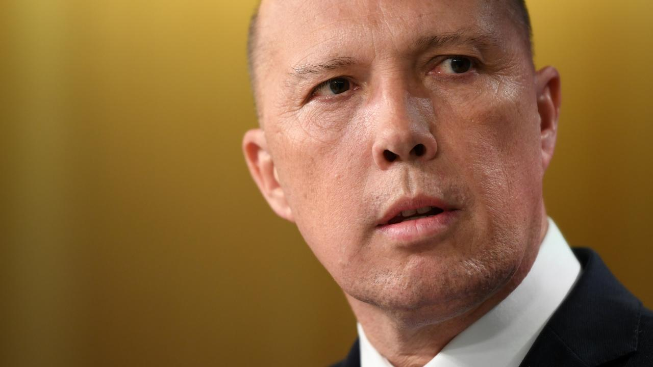 Minister for Home Affairs Peter Dutton. Picture: AAP
