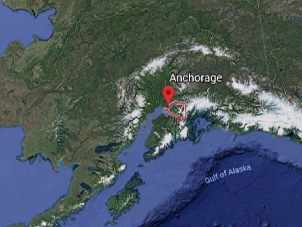 A 7.0 earthquake has hit Anchorage, Alaska with a tsunami warning issued. Picture: Supplied