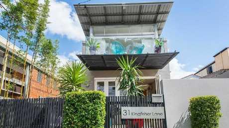 The house at 31 Kingfisher Lane, East Brisbane, that Jamie Charman renovated.