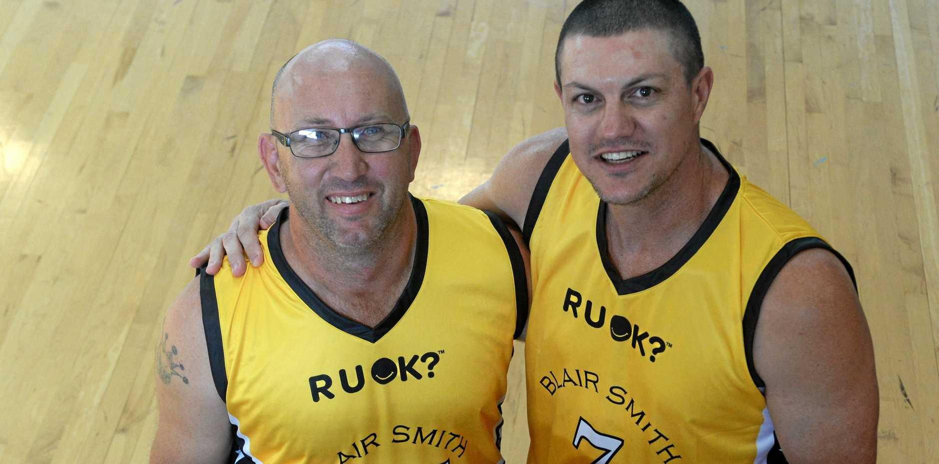 Danny Robson and Tony Campbell are organising the Blair Smith Memorial game at Hegvold Stadium Rockhampton