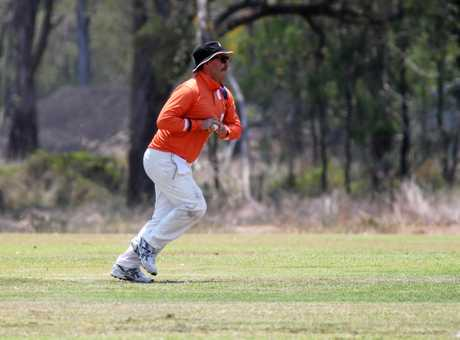 Cricket Corprate Cup: Jolt Bakery Cafe's Wanye Clifford bowling.