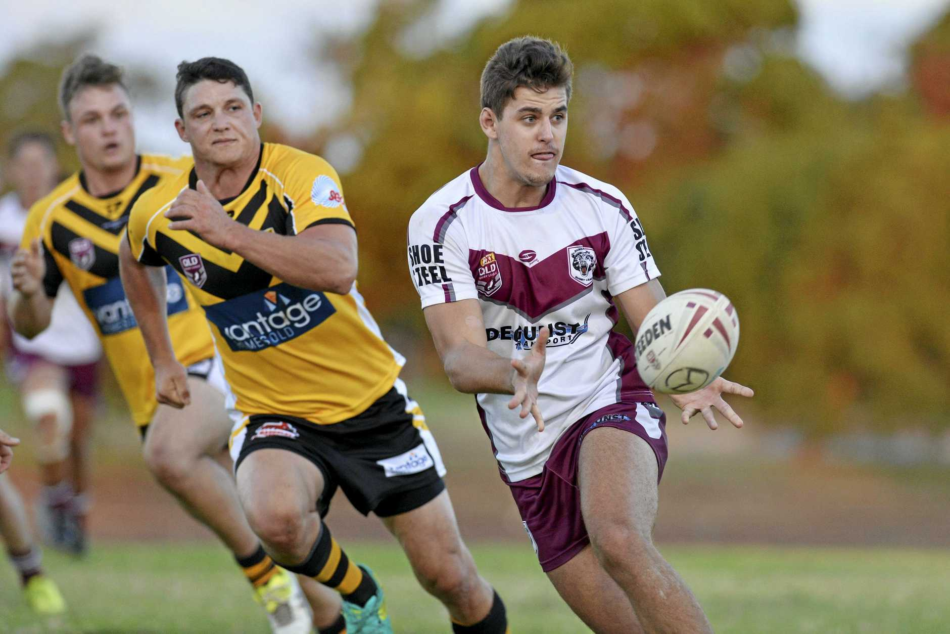 REPRESENT: Trent Seeds for Bundaberg Bears against Sunshine Coast Falcons in a 47th Battalion rugby league carnival fixture in May.