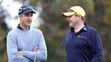 Jarrod Lyle (R) and Geoff Ogilvy.