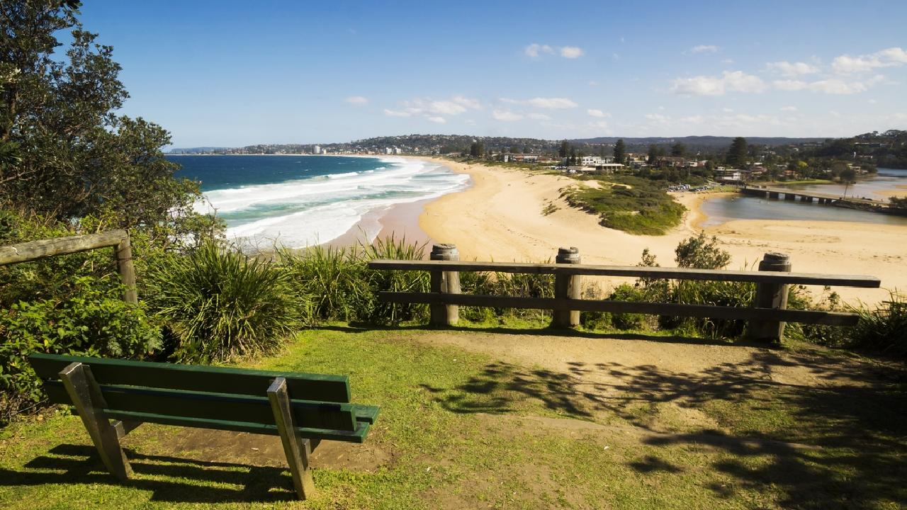 Narrabeen Beach and Lagoon where two young children were pulled from the water on Sunday.