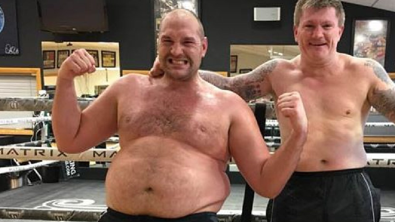 Tyson Fury edged close to 400 pounds.
