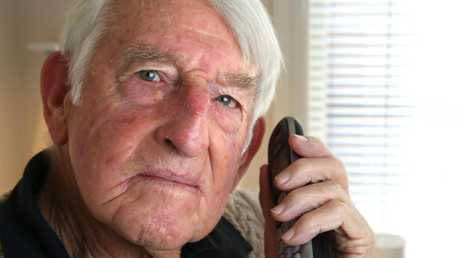Jim Hobill, in his 80s, sensed he had received a scam phone call from someone claiming to be from the ATO so he also called them directly to confirm and he was right. Picture: Mike Dugdale